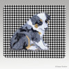 Aussie Shepherd Pup Houndstooth Mouse Pad