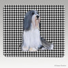 Bearded Collie Houndstooth Mouse Pad