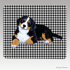 Berner Pup Houndstooth Mouse Pad
