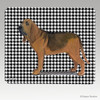 Bloodhound Houndstooth Mouse Pad