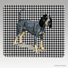 Bluetick Coonhound Houndstooth Mouse Pad