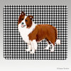 Brown N White Border Collie Houndstooth Mouse Pad