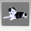Border Collie Pup Houndstooth Mouse Pad