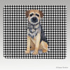 Border Terrier Houndstooth Mouse Pad