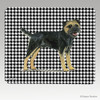 Black N Tan Border Terrier Houndstooth Mouse Pad