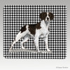 Liver & White Brittany Houndstooth Mouse Pad