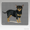 Black N Tan Chihuahua Houndstooth Mouse Pad