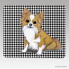 Longhaired Chihuahua Houndstooth Mouse Pad