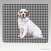 Clumber Spaniel Houndstooth Mouse Pad