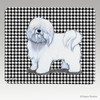 Coton du Tulear Houndstooth Mouse Pad