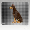 Red Doberman Houndstooth Mouse Pad
