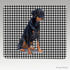 Uncropped  Doberman Houndstooth Mouse Pad