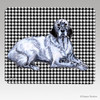 English Setter Houndstooth Mouse Pad