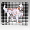 Red Belton English Setter Houndstooth Mouse Pad