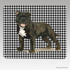 Brindle Staffie Houndstooth Mouse Pad