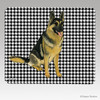 Sitting German Shepherd Houndstooth Mouse Pads