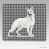 White German Shepherd Houndstooth Mouse Pad