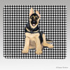 German Shepherd Puppy Houndstooth Mouse Pad