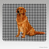 Sitting Golden Houndstooth Mouse Pads