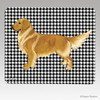 Standing Golden Houndstooth Mouse Pads