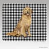 Smiling Golden Houndstooth Mouse Pads