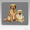 Golden Pair Houndstooth Mouse Pads