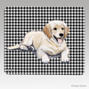 Golden Pup Houndstooth Mouse Pads