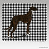 Standing Greyhound Houndstooth Mouse Pads