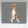 Greyhound Pup Houndstooth Mouse Pad