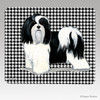 Black N White Havanese Houndstooth Mouse Pad