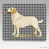 Standing Yellow Lab Houndstooth Mouse Pads