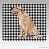 Sitting Yellow Lab Houndstooth Mouse Pad