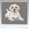 Yellow Lab Pup Houndstooth Mouse Pad