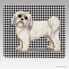 Clipped Lhasa Apso Houndstooth Mouse Pad