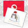 Tan & White Shih Tzu Christmas Cards