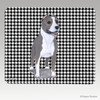 Standing Pit Bull Houndstooth Mouse Pads