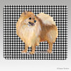 Pomeranian Houndstooth Mouse Pad