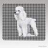 White Poodle Houndstooth Mouse Pad
