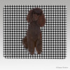 Chocolate Poodle Houndstooth Mouse Pad