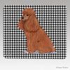 Apricot Poodle Houndstooth Mouse Pad
