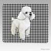 Toy Poodle Houndstooth Mouse Pad