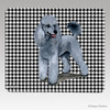 Silver Poodle HoundstoothMouse Pad