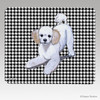 Poodle Puppy Houndstooth Mouse Pad