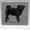 Black Pug Houndstooth Mouse Pads