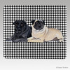 Pair of Pugs Houndstooth Mouse Pads