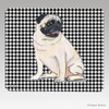 Sitting Pug Houndstooth Mouse Pad