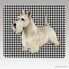 Wheaten Scottish Terrier Houndstooth Mouse Pad