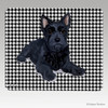Scottie Puppy Houndstooth Mouse Pad