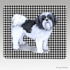 Clipped Shih Tzu Houndstooth Mouse Pad