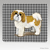 Puppy Clipped Tan & White Shih Tzu Houndstooth Mouse Pads